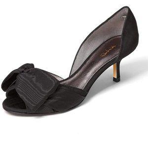 XYD Low Heel D'Orsay Pumps Peep Toe Slip On Dress